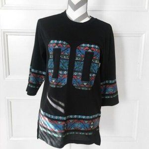 Number Jersey Oversized Comfy Casual Aztec Pattern